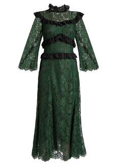 Dolce & Gabbana Ruffle-trimmed cordonetto-lace dress