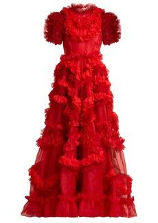 Dolce & Gabbana Ruffle-trimmed silk-blend organza gown