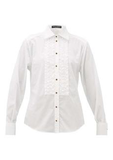 Dolce & Gabbana Ruffled cotton-poplin shirt