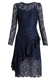 Dolce & Gabbana Ruffled-front floral-lace dress