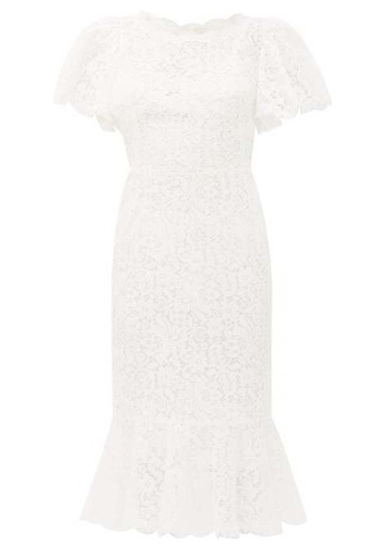 Dolce & Gabbana Ruffled lace midi dress
