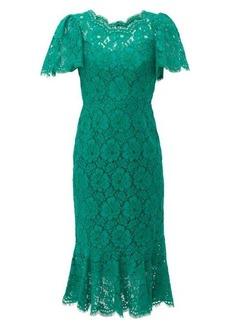 Dolce & Gabbana Ruffled lace midi dress