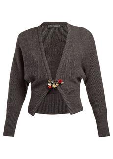 Dolce & Gabbana Safety pin wool-blend cardigan
