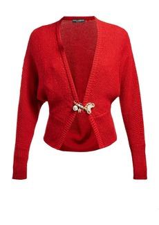 Dolce & Gabbana Safety-pin wool-blend cardigan