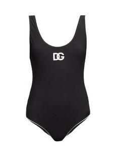 Dolce & Gabbana Scoop-back logo-appliqué swimsuit