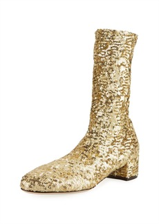 Dolce & Gabbana Sequined High 30mm Bootie