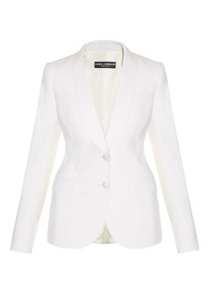 Dolce & Gabbana Shawl-lapel single-breasted wool-blend blazer