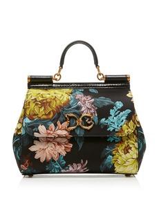Dolce & Gabbana Sicily Floral Jacquard Top Handle Bag