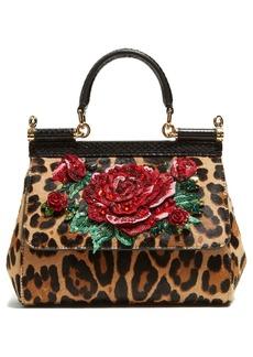 Dolce & Gabbana Leopard-print Sicily cross-body bag