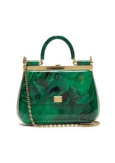Dolce & Gabbana Sicily mini marbled-acrylic bag