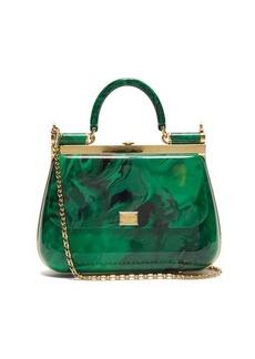 Dolce & Gabbana Sicily mini marbled-acrylic bag