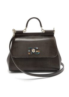 Dolce & Gabbana Sicily medium iguana-effect leather bag