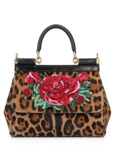 Dolce & Gabbana Sicily Medium Pony Handbag