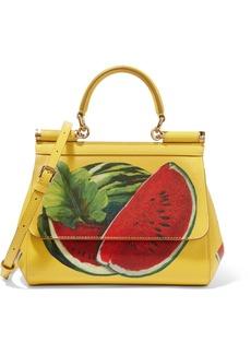 Dolce & Gabbana Sicily mini printed textured-leather shoulder bag