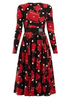 Dolce & Gabbana Sicily-print silk-blend charmeuse dress