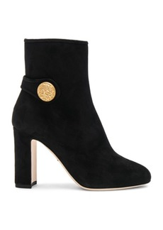 Dolce & Gabbana Side Button Suede Booties