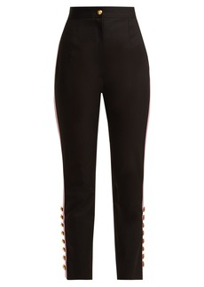 Dolce & Gabbana Side-stripe gabardine trousers