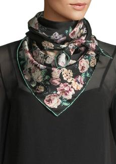 Dolce & Gabbana Silk Twill Floral Scarf