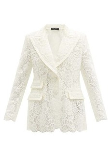 Dolce & Gabbana Single-breasted cordonetto-lace blazer