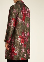 Dolce & Gabbana Single-breasted floral-jacquard coat