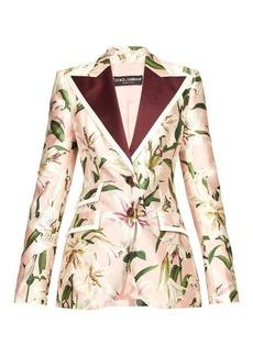 Dolce & Gabbana Single-breasted floral-print shantung blazer