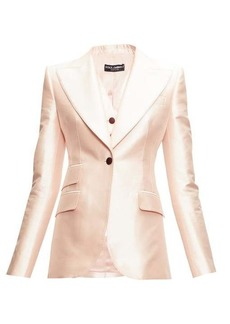 Dolce & Gabbana Single-breasted mikado-silk blazer