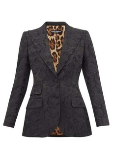 Dolce & Gabbana Single-breasted rose-jacquard fitted blazer