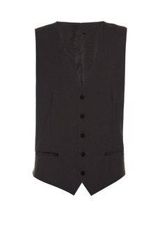 Dolce & Gabbana Single-breasted satin-backed waistcoat