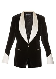 Dolce & Gabbana Single-breasted velvet blazer