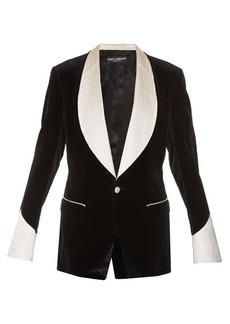 Dolce & Gabbana Single-breasted velvet blazer