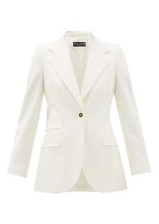 Dolce & Gabbana Single-breasted virgin-wool blend crepe blazer