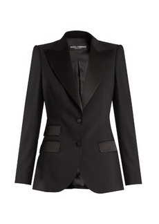 Dolce & Gabbana Single-breasted wool and silk-blend jacket