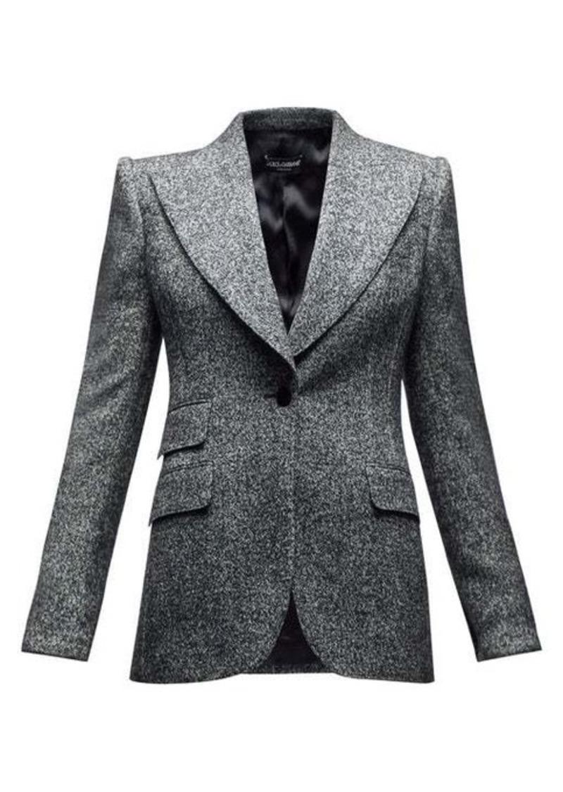 Dolce & Gabbana Single-breasted wool-blend peak-lapel blazer