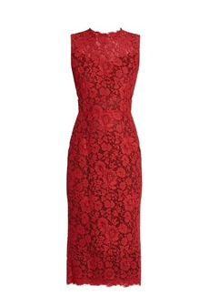 Dolce & Gabbana Sleeveless cordonetto-lace dress