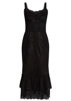 Dolce & Gabbana Sleeveless lace and tulle midi dress