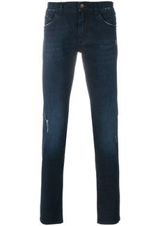 Dolce & Gabbana slight distressed slim fit jeans - Blue