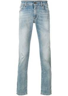 Dolce & Gabbana slim fit distressed detailed jeans - Blue
