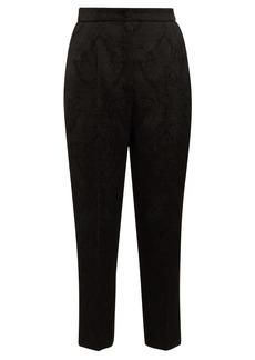 Dolce & Gabbana Slim-leg floral-jacquard trousers