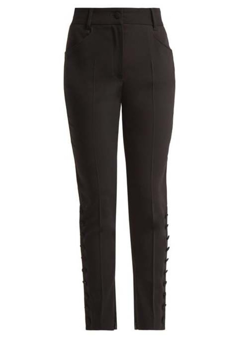 Dolce & Gabbana Slim-leg wool-blend trousers