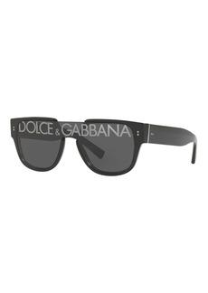 Dolce & Gabbana Square Shield Logo Sunglasses