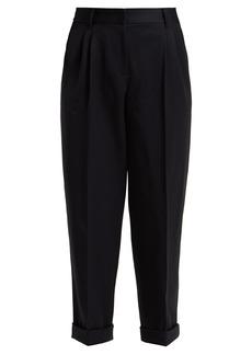 Dolce & Gabbana Straight-leg wool cropped trousers