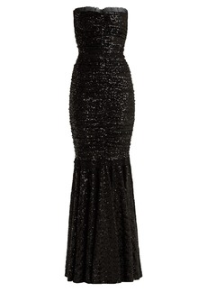 Dolce & Gabbana Strapless fishtail sequin-embellished gown