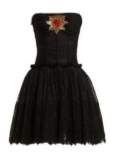 Dolce & Gabbana Strapless tulle mini dress
