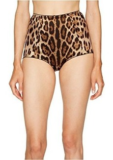 Dolce & Gabbana Stretch Satin Cheetah High Waisted Panty