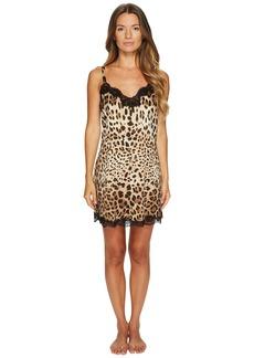 Dolce & Gabbana Stretch Silk Lace Cheetah