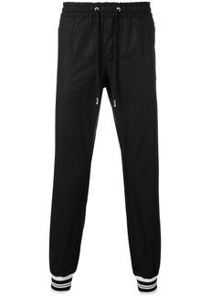 Dolce & Gabbana stripe cuff tracksuit bottoms - Black