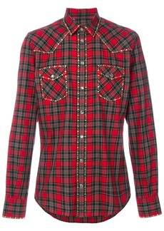 Dolce & Gabbana studded Western checked shirt - Red