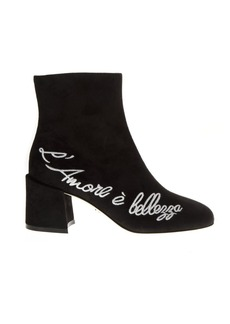Dolce & Gabbana Suede Black Ankle Boots