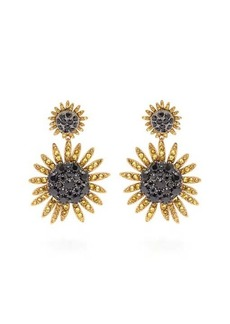Dolce & Gabbana Sunflower crystal clip earrings