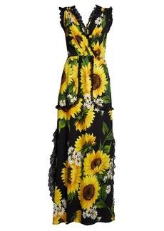 Dolce & Gabbana Sunflower-print cady gown